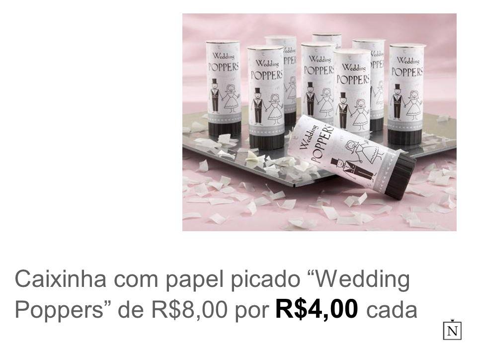 Caixinha com papel picado Wedding Poppers de R$8,00 por R$4,00 cada