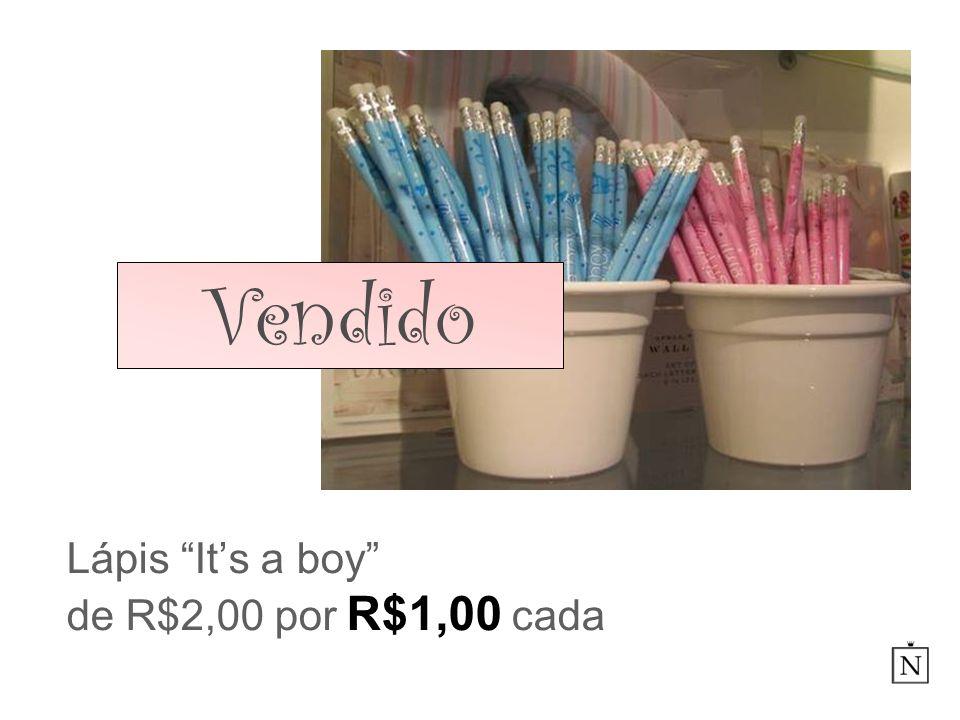Lápis Its a boy de R$2,00 por R$1,00 cada Vendido