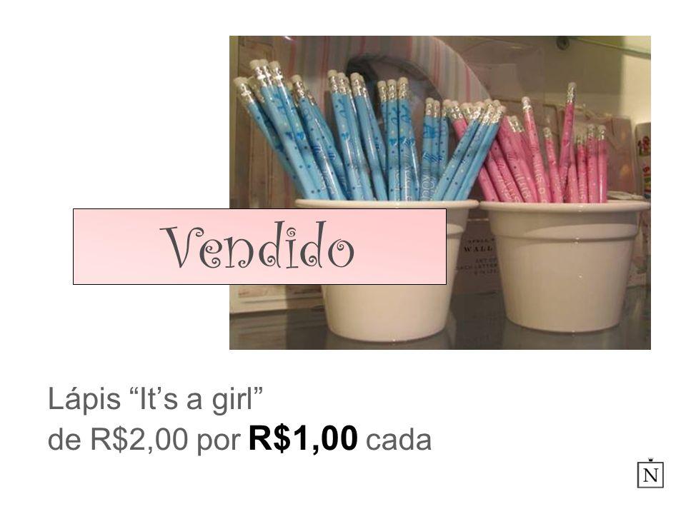 Lápis Its a girl de R$2,00 por R$1,00 cada Vendido