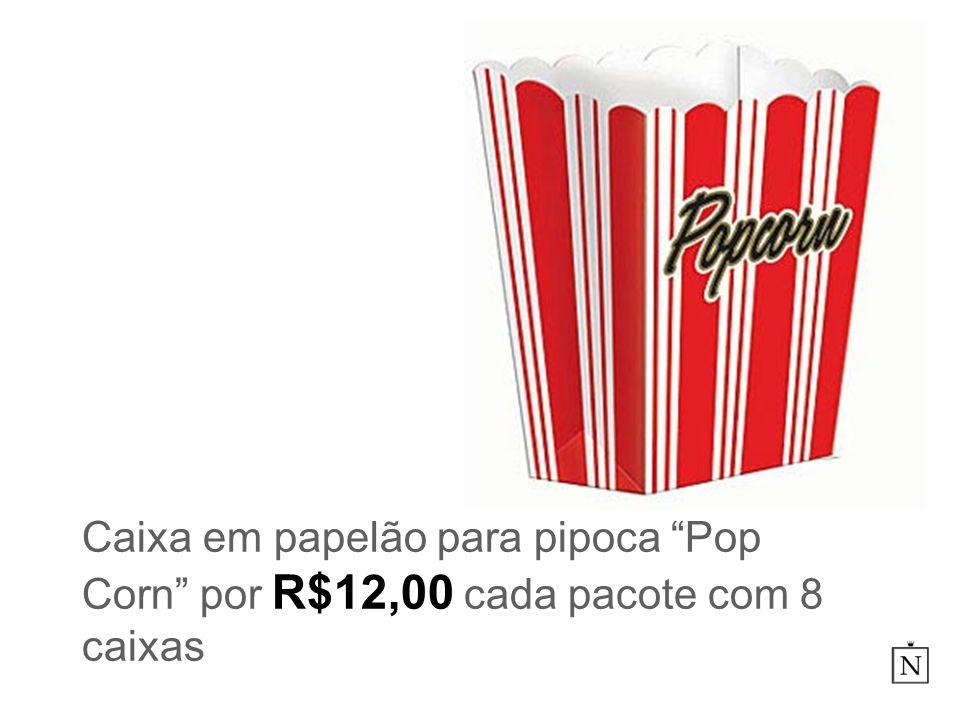 Caixa em papelão para pipoca Pop Corn por R$12,00 cada pacote com 8 caixas
