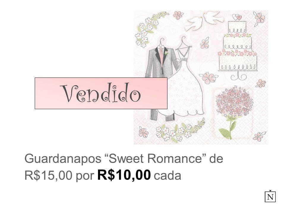 Guardanapos Sweet Romance de R$15,00 por R$10,00 cada Vendido