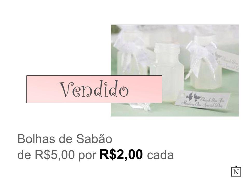 Bolhas de Sabão de R$5,00 por R$2,00 cada Vendido