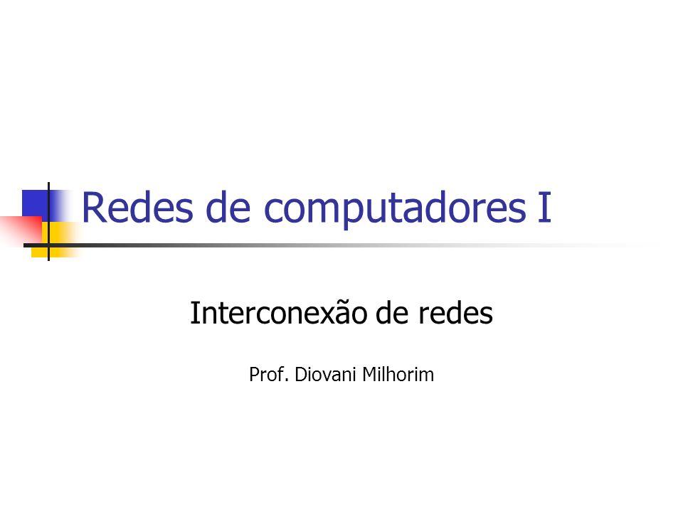 Redes de computadores I Interconexão de redes Prof. Diovani Milhorim