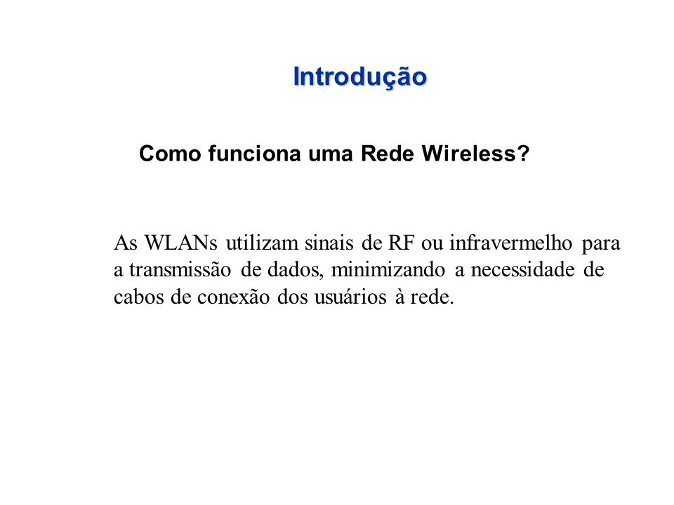 O que são as Wireless LAN.