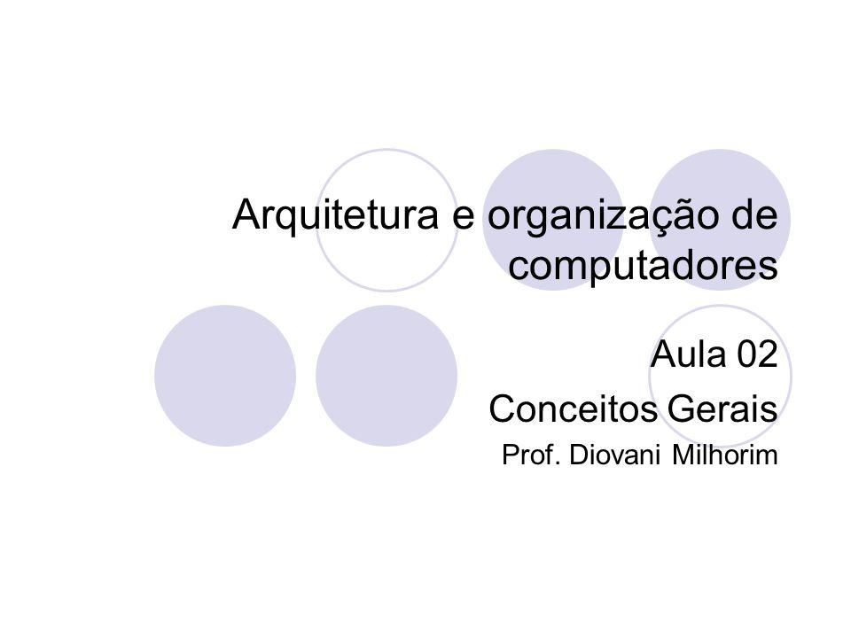 Arquitetura e organização de computadores Aula 02 Conceitos Gerais Prof. Diovani Milhorim