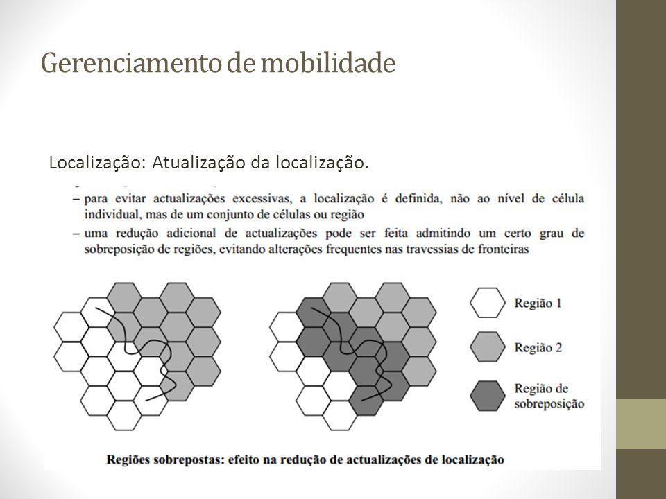 Gerenciamento de mobilidade Localização: Atualização da localização.