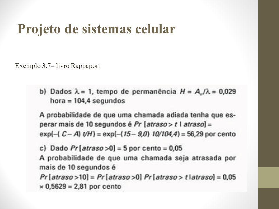 Exemplo 3.7– livro Rappaport Projeto de sistemas celular