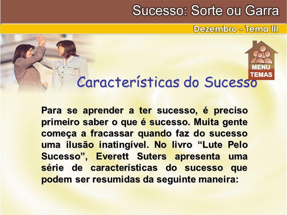 Para se aprender a ter sucesso, é preciso primeiro saber o que é sucesso. Muita gente começa a fracassar quando faz do sucesso uma ilusão inatingível.