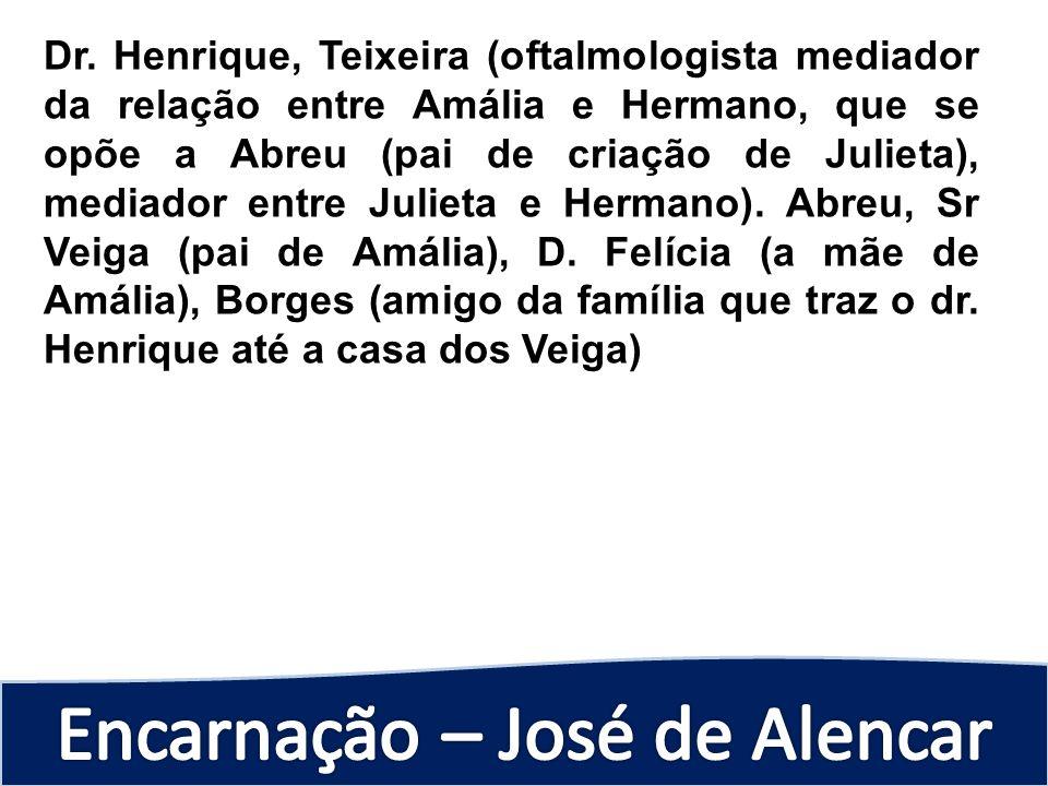 Dr. Henrique, Teixeira (oftalmologista mediador da relação entre Amália e Hermano, que se opõe a Abreu (pai de criação de Julieta), mediador entre Jul