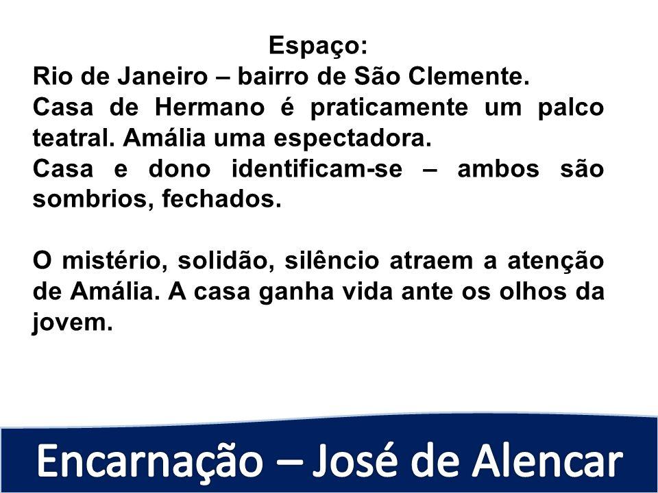 Espaço: Rio de Janeiro – bairro de São Clemente. Casa de Hermano é praticamente um palco teatral. Amália uma espectadora. Casa e dono identificam-se –