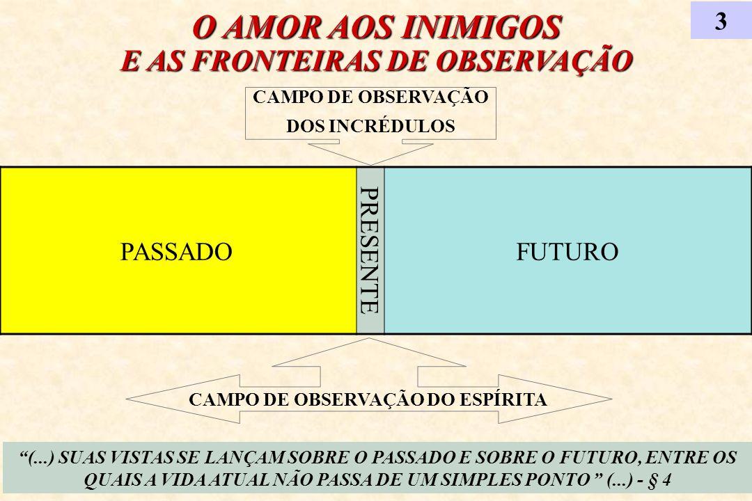 O AMOR AOS INIMIGOS E AS FRONTEIRAS DE OBSERVAÇÃO 3 (...) SUAS VISTAS SE LANÇAM SOBRE O PASSADO E SOBRE O FUTURO, ENTRE OS QUAIS A VIDA ATUAL NÃO PASS