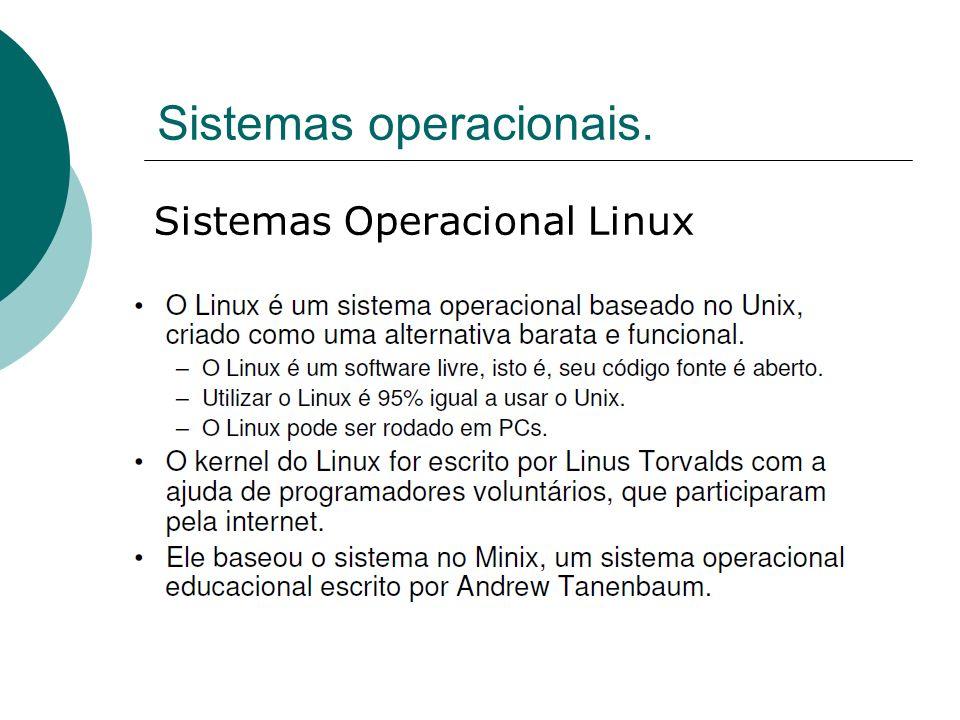 Sistemas operacionais. Sistemas Operacional Linux