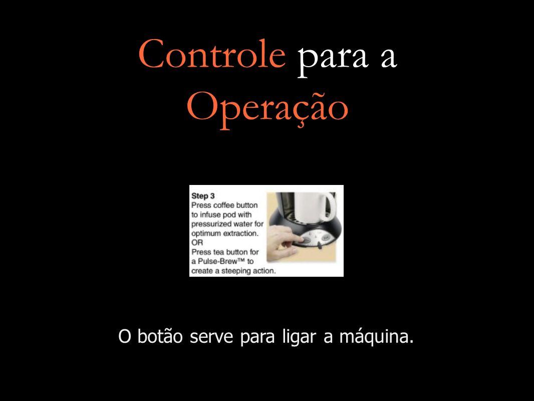 Controle para a Operação O botão serve para ligar a máquina.