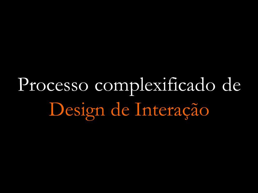 Processo complexificado de Design de Interação