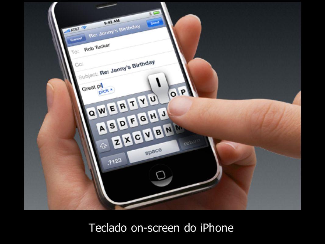 Teclado on-screen do iPhone