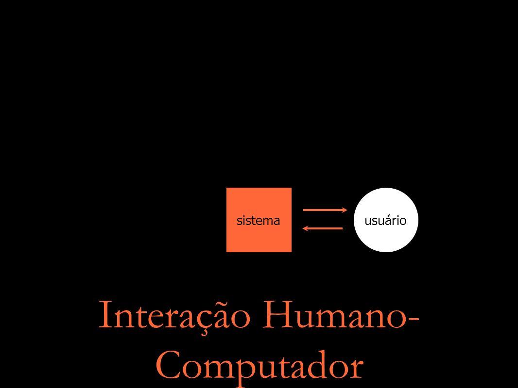 Interação Humano- Computador sistemausuário