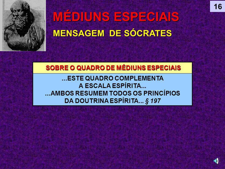 SEGUNDO AS QUALIDADES FÍSICAS SEGUNDO AS QUALIDADES FÍSICAS DO MÉDIUM CALMOS VELOZES CONVULSIVOS MÉDIUNS ESPECIAIS VARIEDADES DE ESCREVENTES SEGUNDO AS QUALIDADES MORAIS SEGUNDO AS QUALIDADES MORAIS DO MÉDIUMIMPERFEITOS OBSIDIADOS FASCINADOS SUBJUGADOS LEVIANOS INDIFERENTES PRESUNÇOSOS ORGULHOSOS SUSCEPTÍVEIS MERCENÁRIOS AMBICIOSOS DE MÁ FÉ EGOISTAS INVEJOSOS BONS MÉDIUNS SÉRIOS MODESTOS DEVOTADOS SEGUROS 16 POSSO SER CONVULSIVO E MODESTO?
