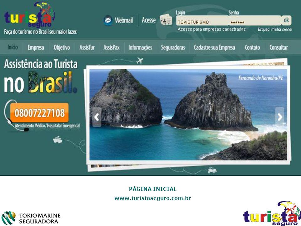 PÁGINA INICIAL www.turistaseguro.com.br