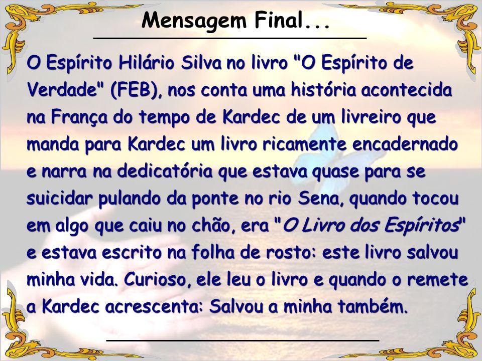 O Espírito Hilário Silva no livro