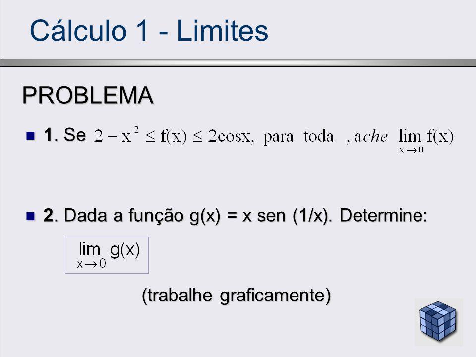 Cálculo 1 - LimitesPROBLEMA 1. Se 1. Se 2. Dada a função g(x) = x sen (1/x). Determine: 2. Dada a função g(x) = x sen (1/x). Determine: (trabalhe graf