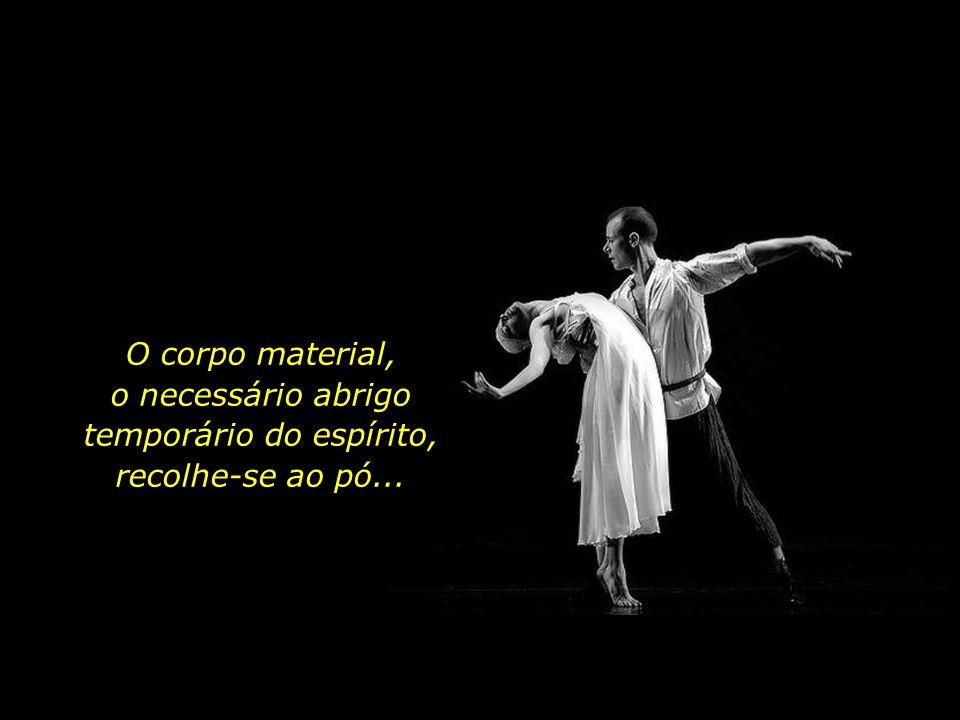 Durante um breve lapso de tempo, espírito e matéria dividem o mesmo palco, findo tal prazo, cada qual segue o seu rumo...