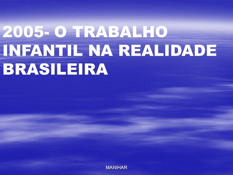 MANIHAR 2005- O TRABALHO INFANTIL NA REALIDADE BRASILEIRA