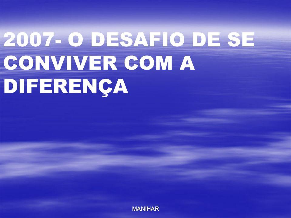 MANIHAR 2007- O DESAFIO DE SE CONVIVER COM A DIFERENÇA
