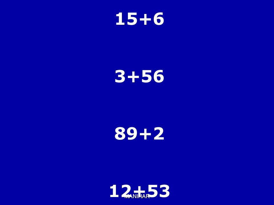 MANIHAR 15+6 3+56 89+2 12+53