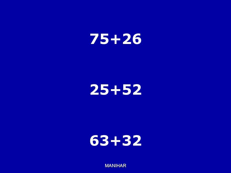 MANIHAR 75+26 25+52 63+32