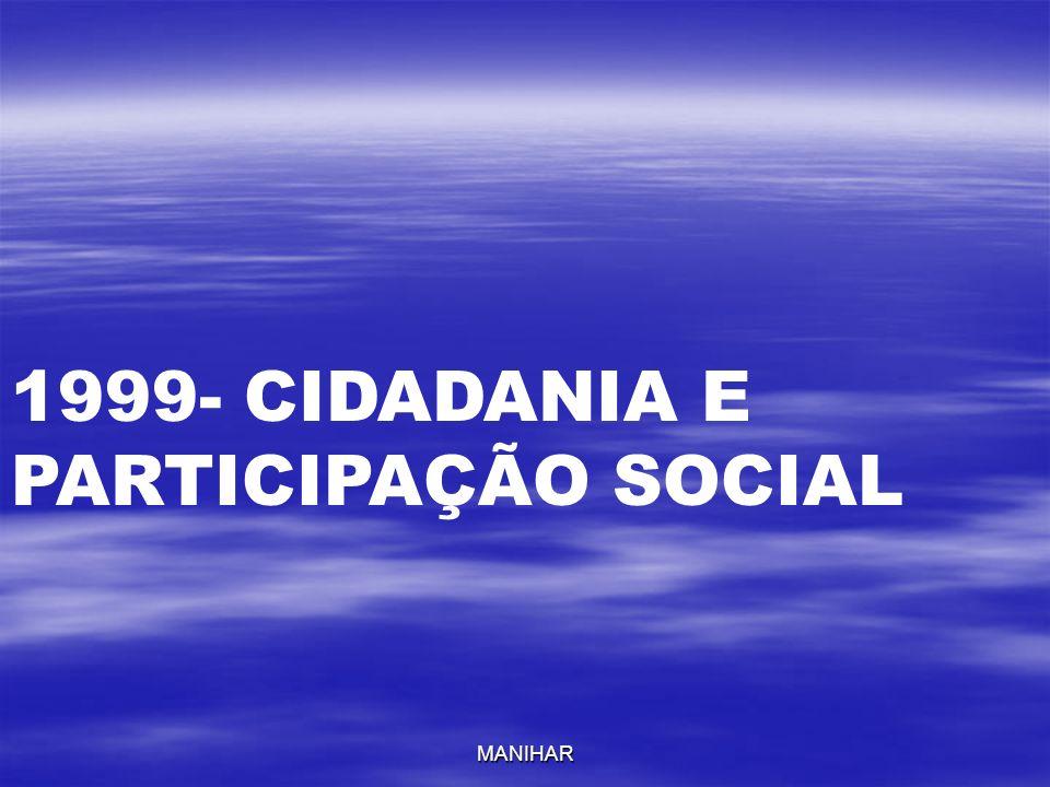 MANIHAR 1999- CIDADANIA E PARTICIPAÇÃO SOCIAL