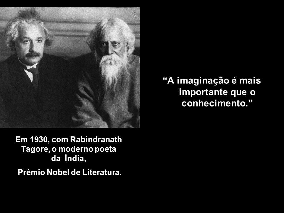 Em 1929, com Max Planck, autor de Teoria Quântica. Uma razão por que a matemática goza de especial estima sobre todas as demais ciências, é que suas l