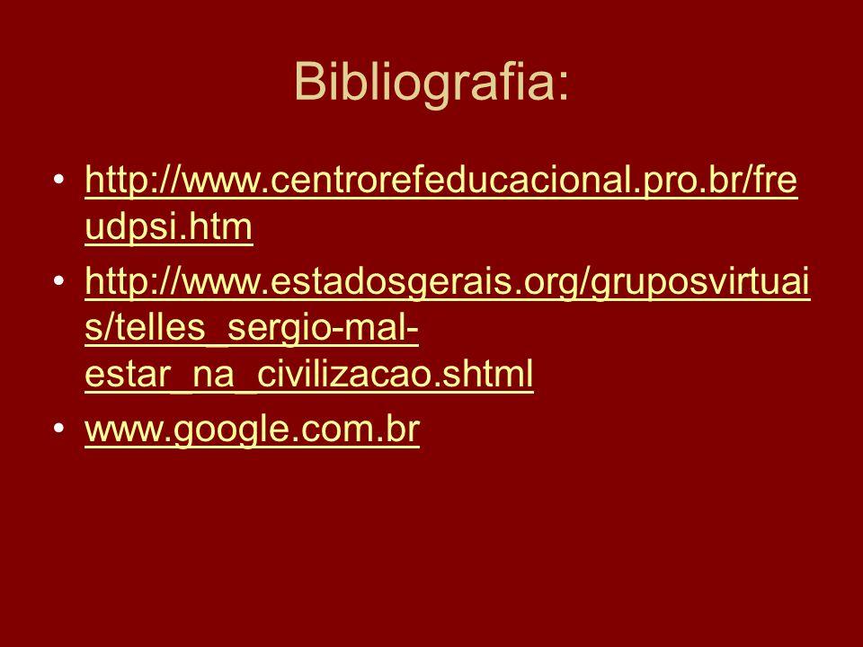 Bibliografia: http://www.centrorefeducacional.pro.br/fre udpsi.htmhttp://www.centrorefeducacional.pro.br/fre udpsi.htm http://www.estadosgerais.org/gr