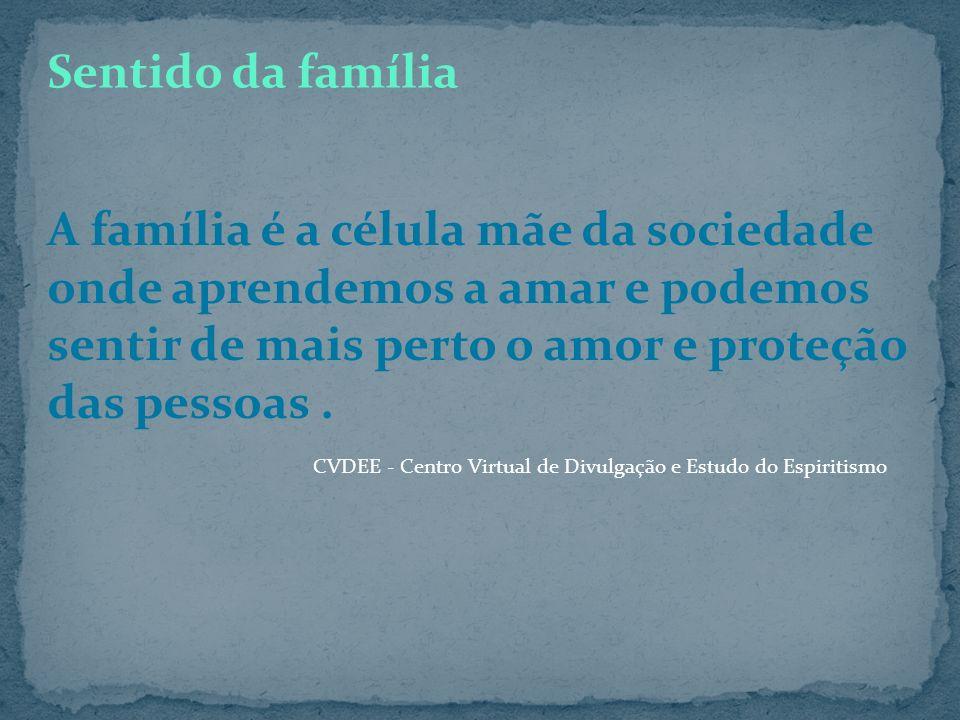 A família é um laboratório de experiências reparadoras Definição da família Felipe Purita Da obra Grupo de Pais e Mães A família, seja ela qual for, é
