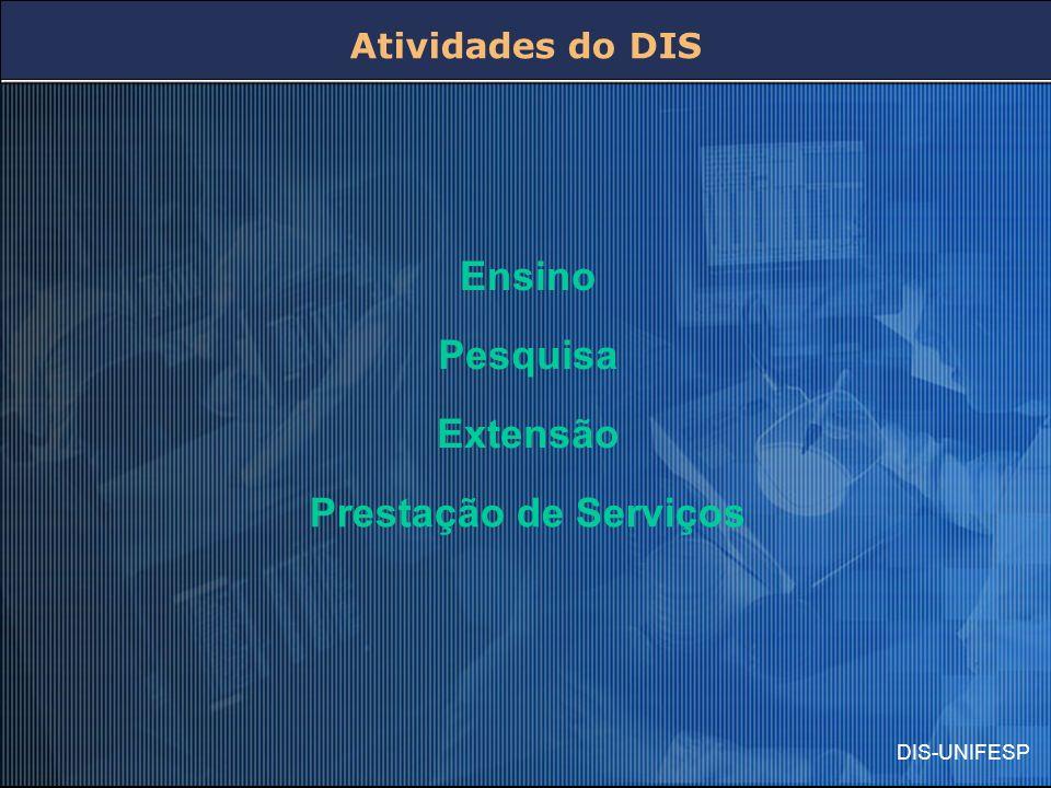 DIS-UNIFESP Atividades do DIS Ensino Pesquisa Extensão Prestação de Serviços