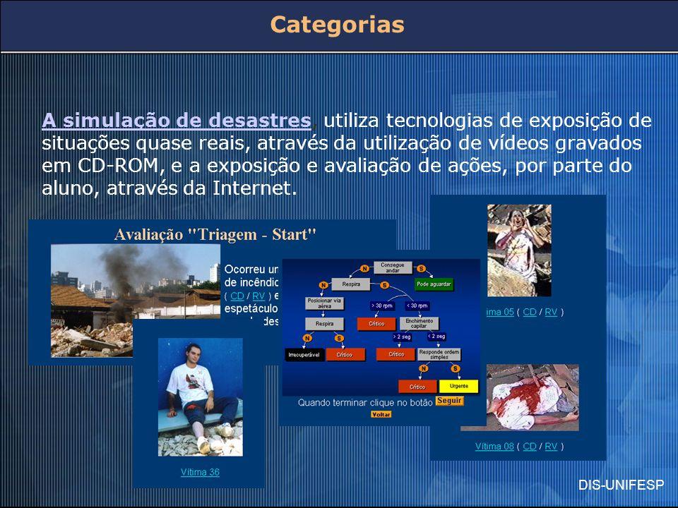 A simulação de desastresA simulação de desastres, utiliza tecnologias de exposição de situações quase reais, através da utilização de vídeos gravados