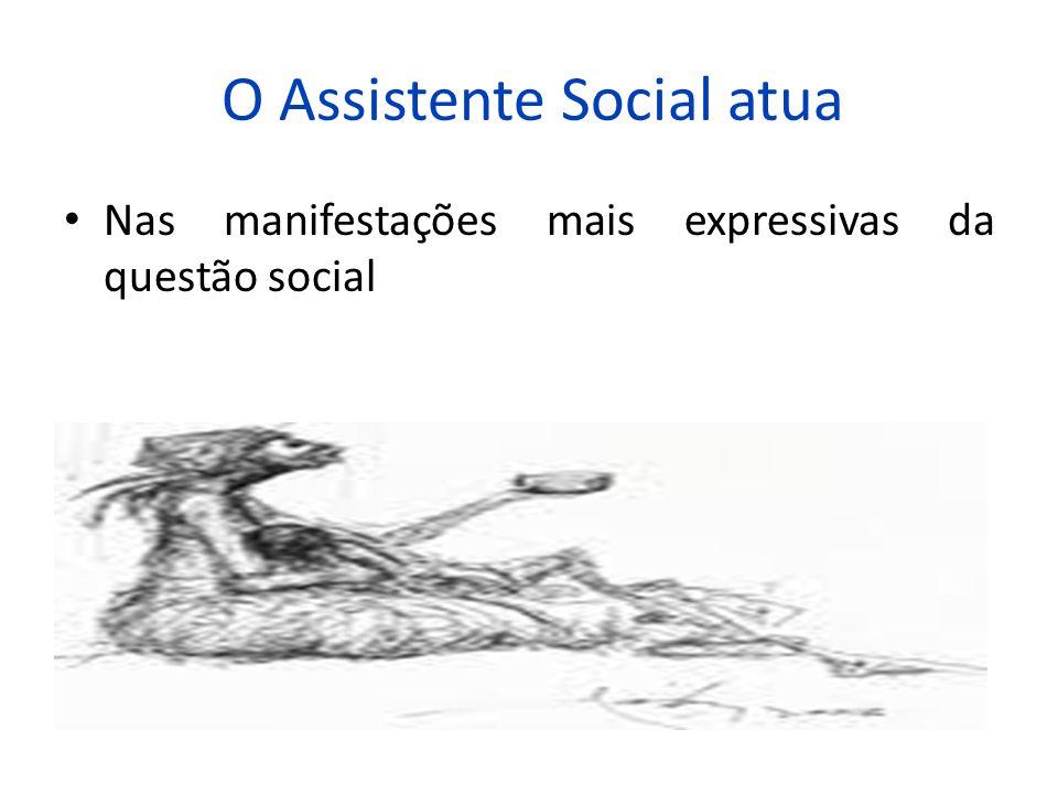 O Assistente Social atua Nas manifestações mais expressivas da questão social