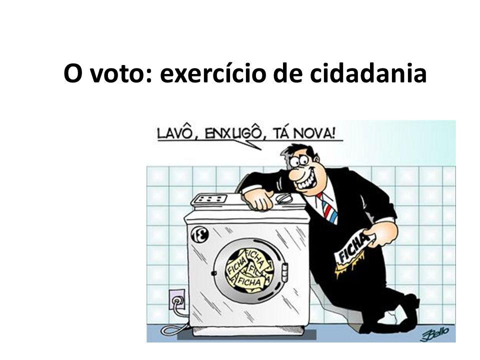 O voto: exercício de cidadania