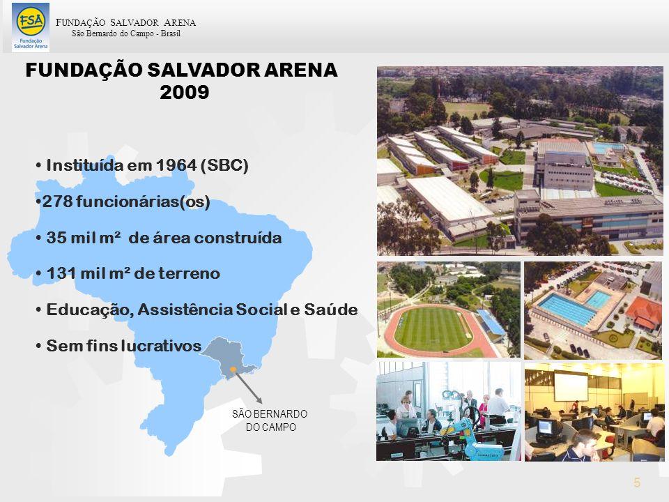 F UNDAÇÃO S ALVADOR A RENA São Bernardo do Campo - Brasil 5 FUNDAÇÃO SALVADOR ARENA 2009 SÃO BERNARDO DO CAMPO Instituída em 1964 (SBC) 278 funcionári