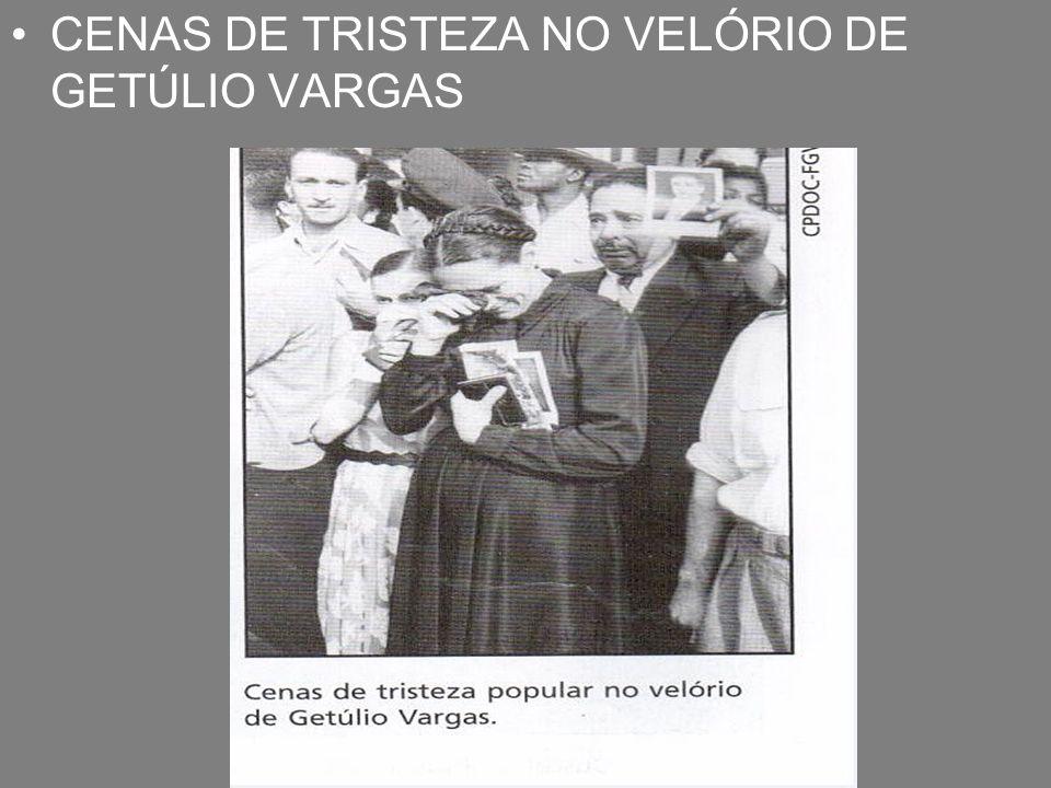 CENAS DE TRISTEZA NO VELÓRIO DE GETÚLIO VARGAS