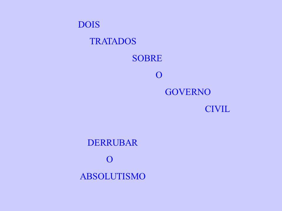 DOIS TRATADOS SOBRE O GOVERNO CIVIL DERRUBAR O ABSOLUTISMO