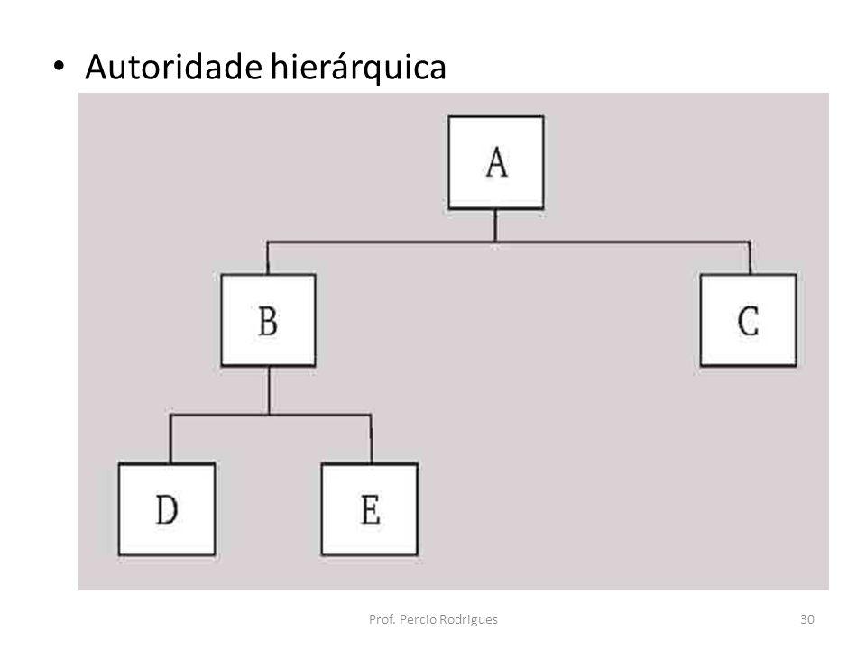 Autoridade hierárquica Prof. Percio Rodrigues30