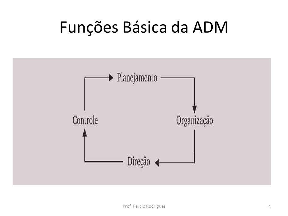 Funções Básica da ADM Prof. Percio Rodrigues4