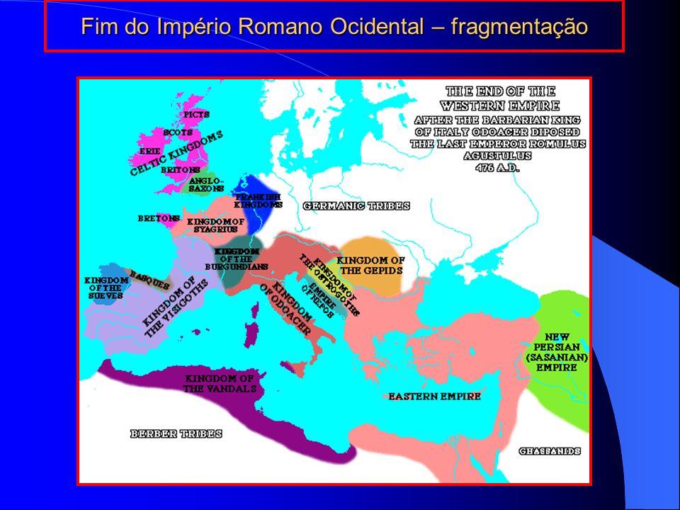 Fim do Império Romano Ocidental – fragmentação