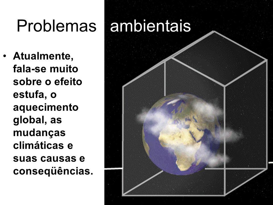 Interesses políticos e econômicos Ações nacionais têm-se mostrado insuficientes, quando comparadas à gravidade do problema, pois tanto as causas, quanto as conseqüências são globais.