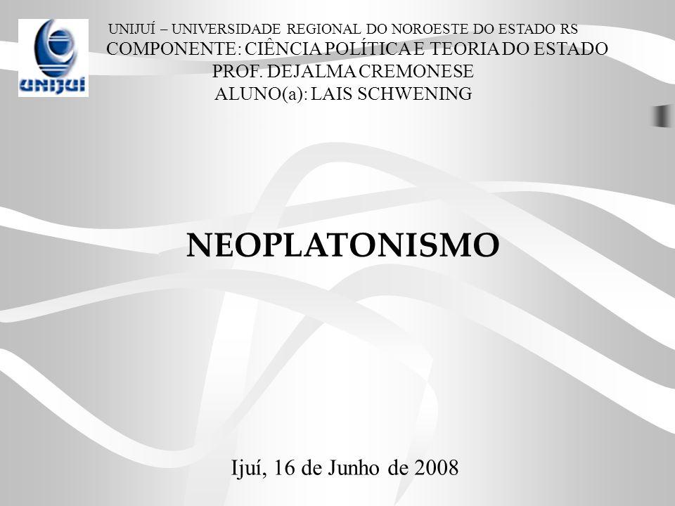Conceito O Neoplatonismo foi uma corrente de pensamento iniciada no Século III que se baseava nos ensinamentos de Platão e dos platônicos, mas interpretando-os de formas bastante diversificadas.