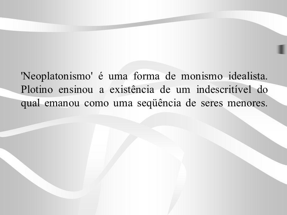 O neoplatonismo começou com o filósofo Plotino (ca.