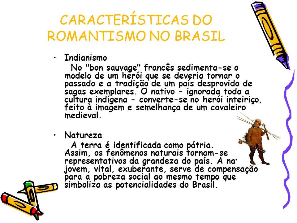 CARACTERÍSTICAS DO ROMANTISMO NO BRASIL Indianismo No