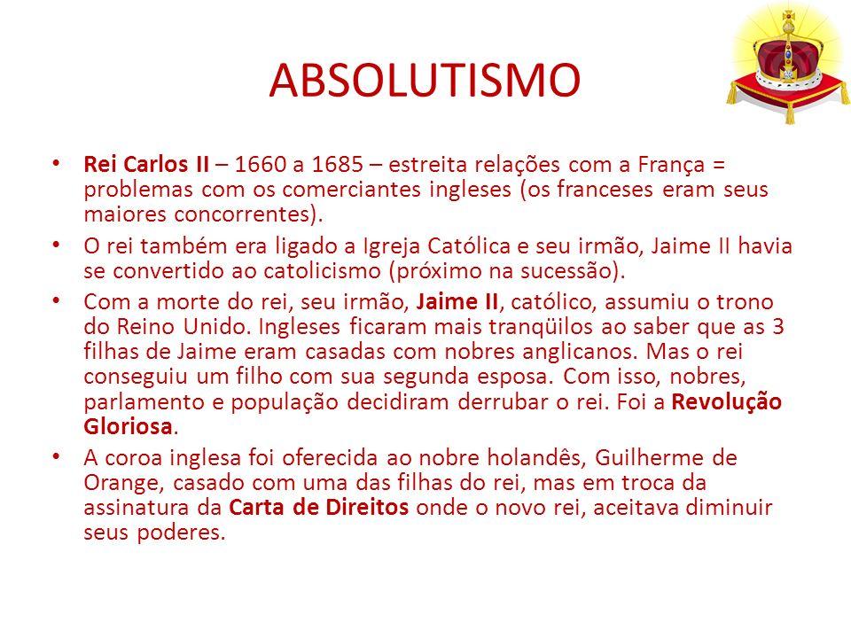 ABSOLUTISMO ABSOLUTISMO NA FRANÇA Conflitos religiosos retardaram a centralização do poder real.