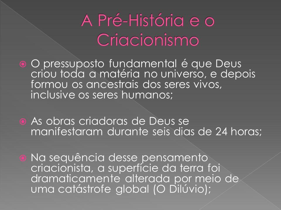 O pressuposto fundamental é que Deus criou toda a matéria no universo, e depois formou os ancestrais dos seres vivos, inclusive os seres humanos; As o
