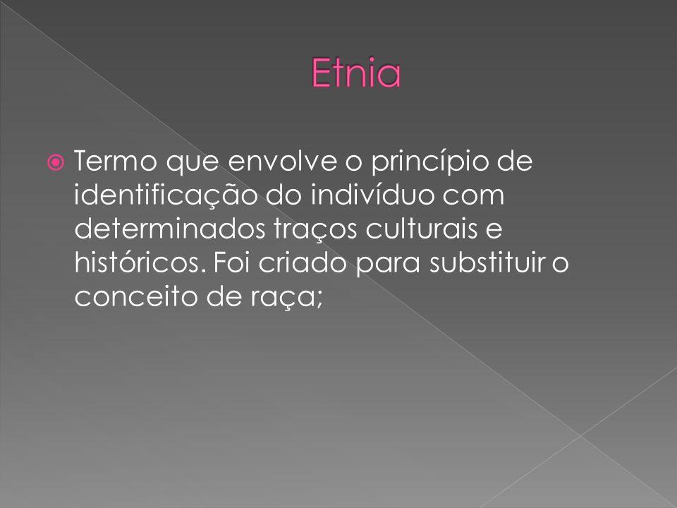 Termo que envolve o princípio de identificação do indivíduo com determinados traços culturais e históricos. Foi criado para substituir o conceito de r